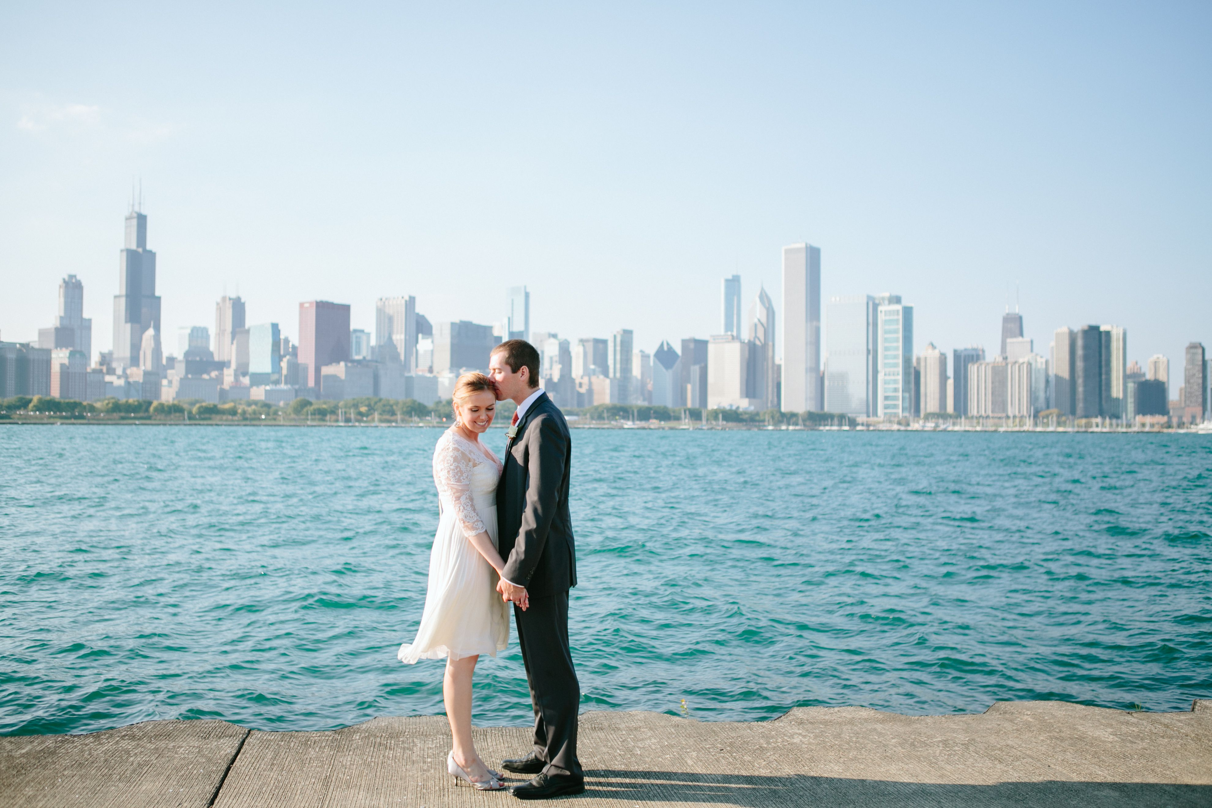 Chicago Elopement Wedding Courthouse Bhldn Dress Www Jacquicole
