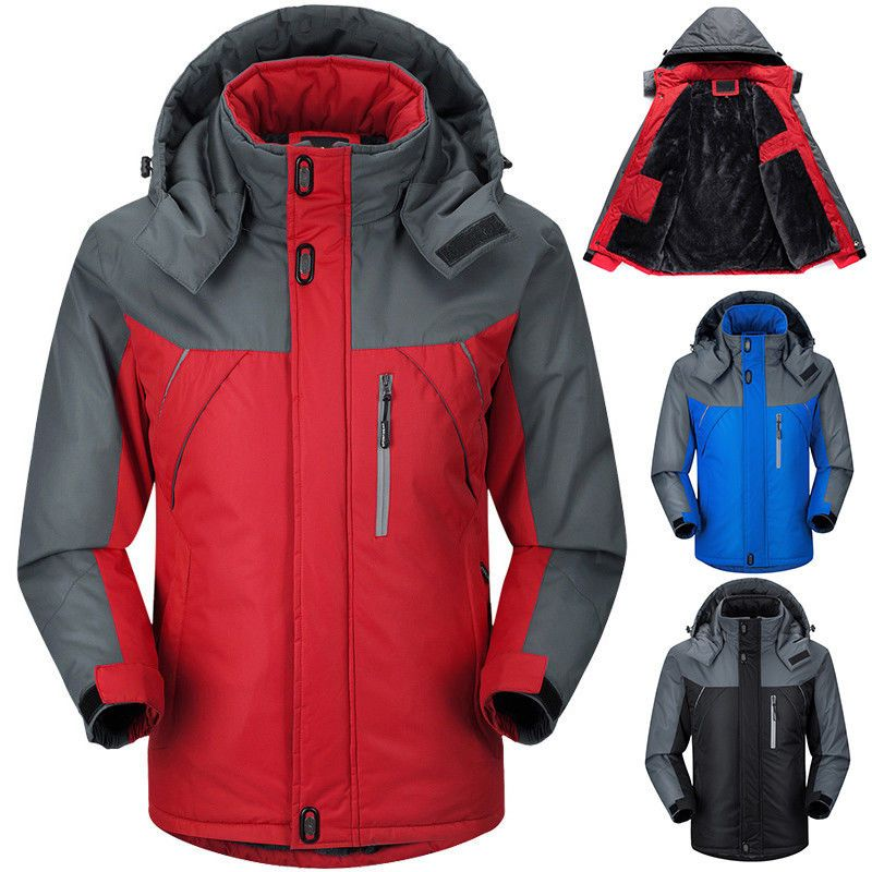 1e06fd4f0715 Winter Men s Fleece Jacket Waterproof Outdoor Hiking Thicken Ski Sport Coat  Warm  Coat  Fleece
