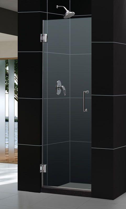 Dreamline Shdr 20237210f Unidoor 23 Inch Frameless Hinged Shower