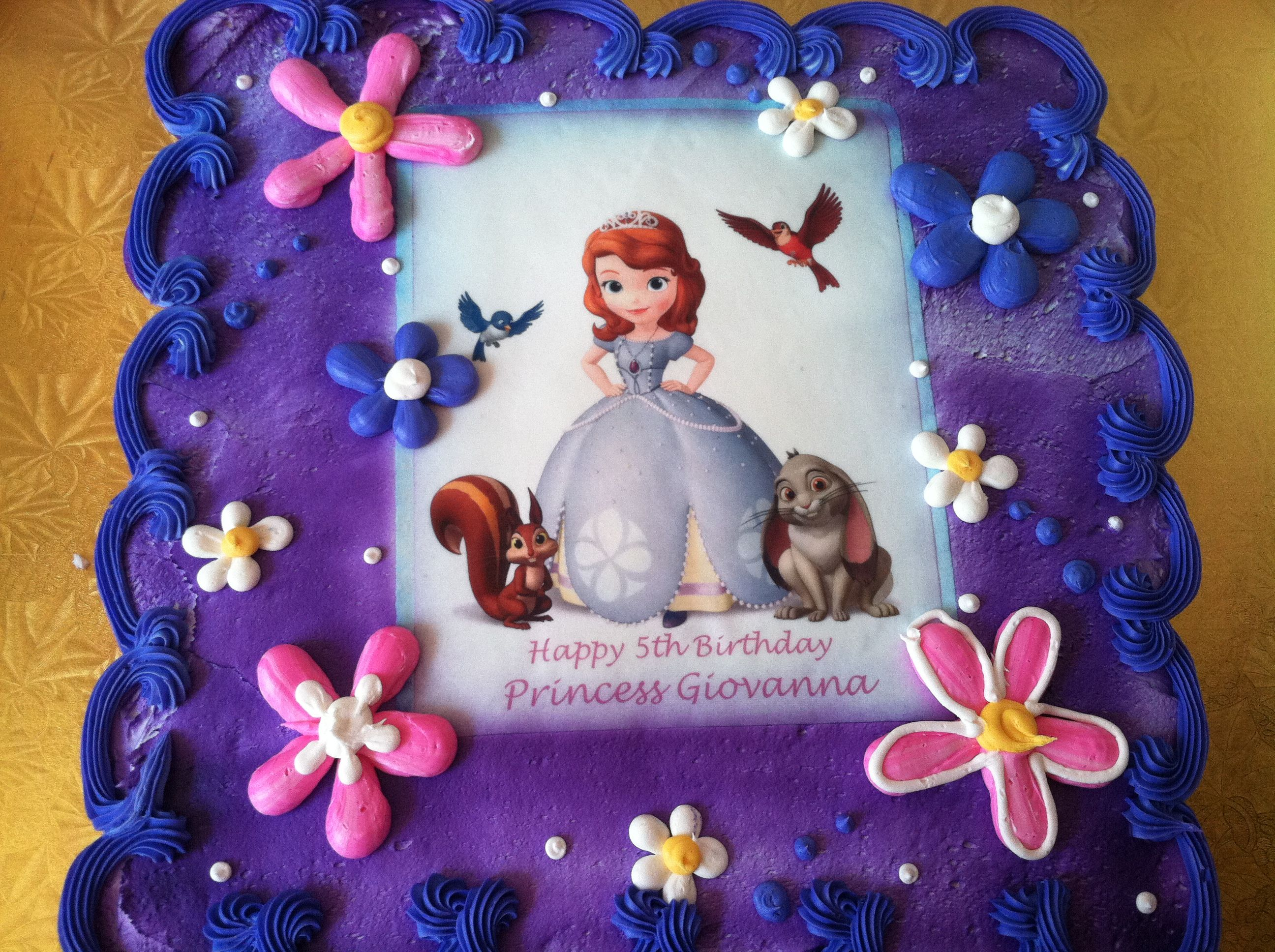 Cool Sofia The First Cake Sofia The First Birthday Party Sofia The Personalised Birthday Cards Arneslily Jamesorg
