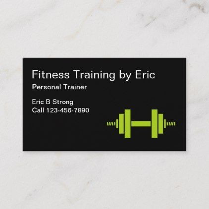 Professional Trainer Fitness Coach Business Card Zazzle Com Fitness Business Card Fitness Coach Fitness Trainer