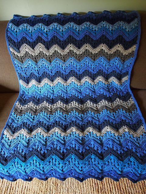 Easy] 6-Day Kid Blanket - Free pattern | Crocheting | Pinterest | Manta