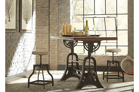 River City Drafting Table   Havertys...possible wine room table ...