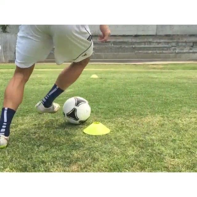 T Cone Dribbling Drill 1 Set Up A T With Cones Like How I Did In The Video I Put About Soccer Training Soccer Training Drills Beast Mode Soccer
