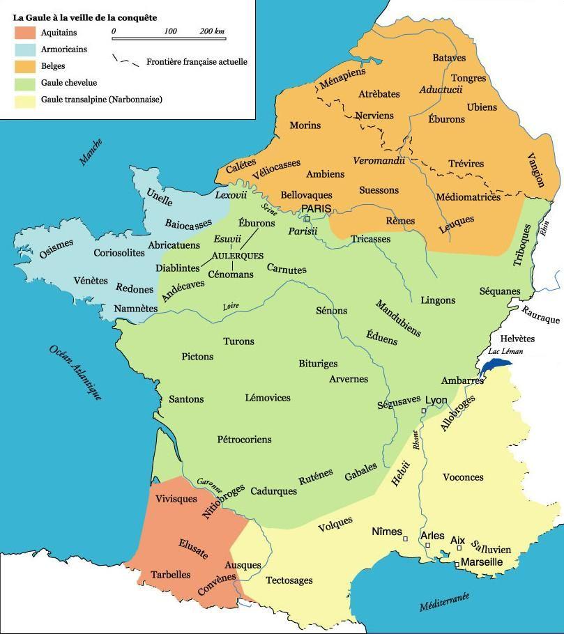 Carte De La Gaule Avant L Invasion Romaine Carte De La Gaule La Gaule Nos Ancetres Les Gaulois