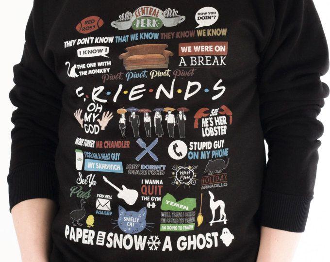 b91880beac Friends TV Show Clothing Friends TV Show Sweatshirt Friends TV Show Sweater  Friends tv Series Pullover Jumper for Men Women GO3014