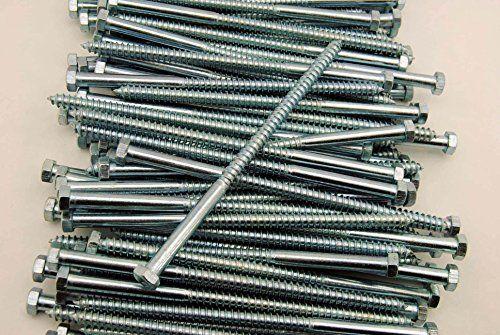 Cheap 100 Hex Head 3 8 X Lag Bolts Zinc Plate Wood Screws On Sale 2017