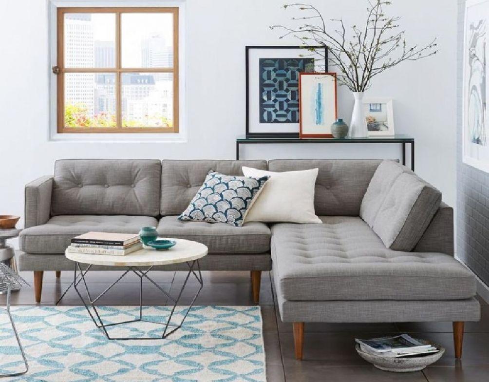 SMALL LIVING ROOM CORNER SOFA | Small room sofa, Small ...