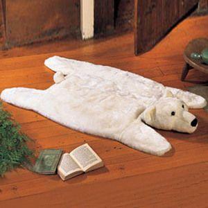 Polar Bear Rug Bear Rug Animal Rug Bear Cabin