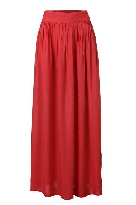 e20edcff8 Un must: la falda larga - larga, plisado, Falda, gasa, verano ...