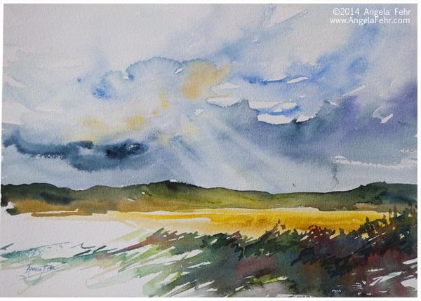 Note To Self Try This Watercolor Landscape Course While It S