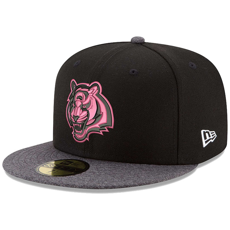 e28f07c98e98fa Cincinnati Bengals New Era Pink Hook 59FIFTY Fitted Hat - Black/Graphite