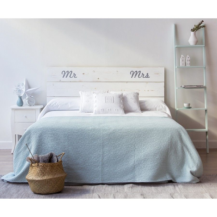 Mr mrs cabecero cabecero y dormitorio - Cabeceros de cama blancos ...