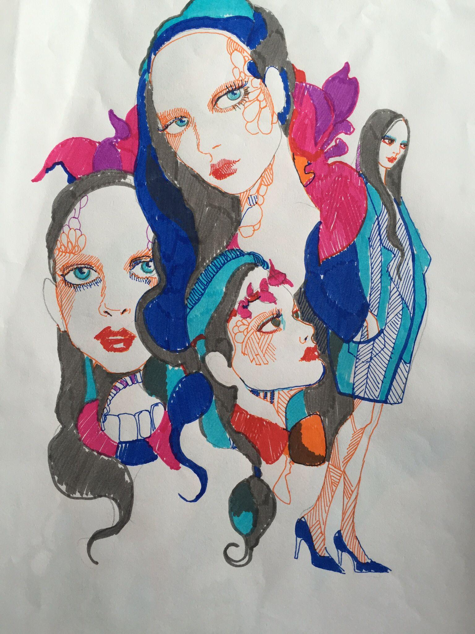 Blue Rainbow girls