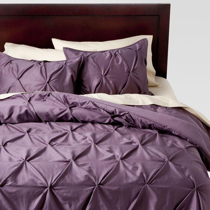 pinched pleat comforter set  threshold  comforter sets
