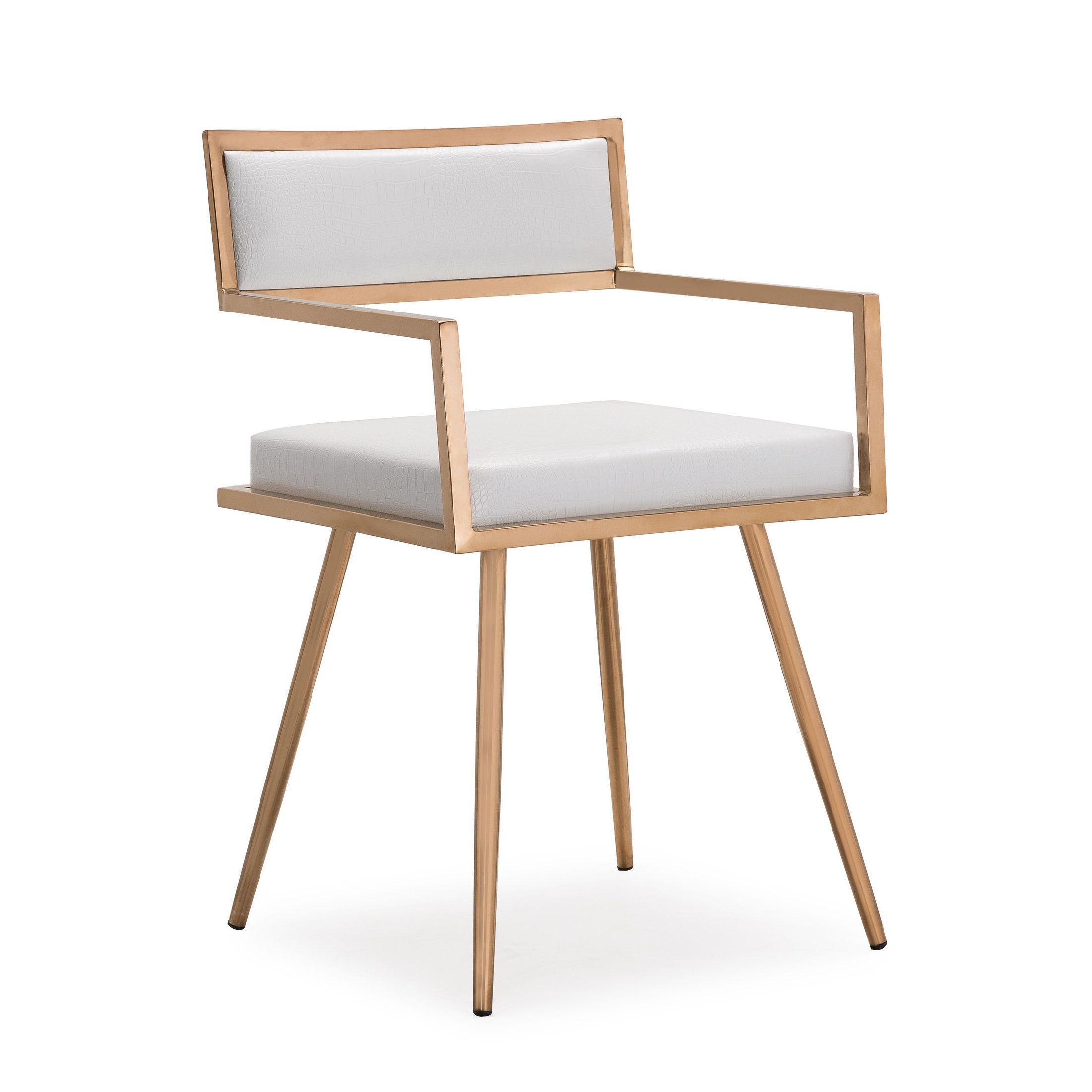 Marquee Mid Century Modern White Accent Chair Set Of 2 Marquee