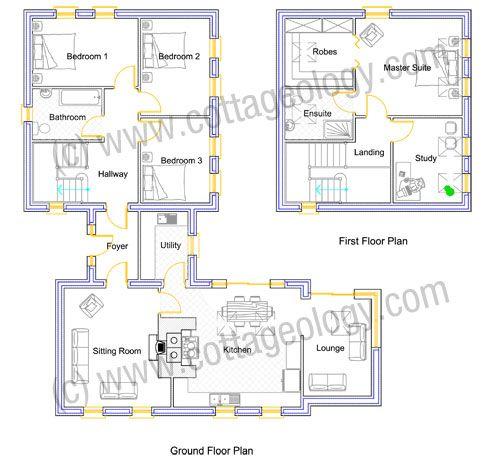 fushia cottage floor plans irish cottage plans house plans in rh pinterest com