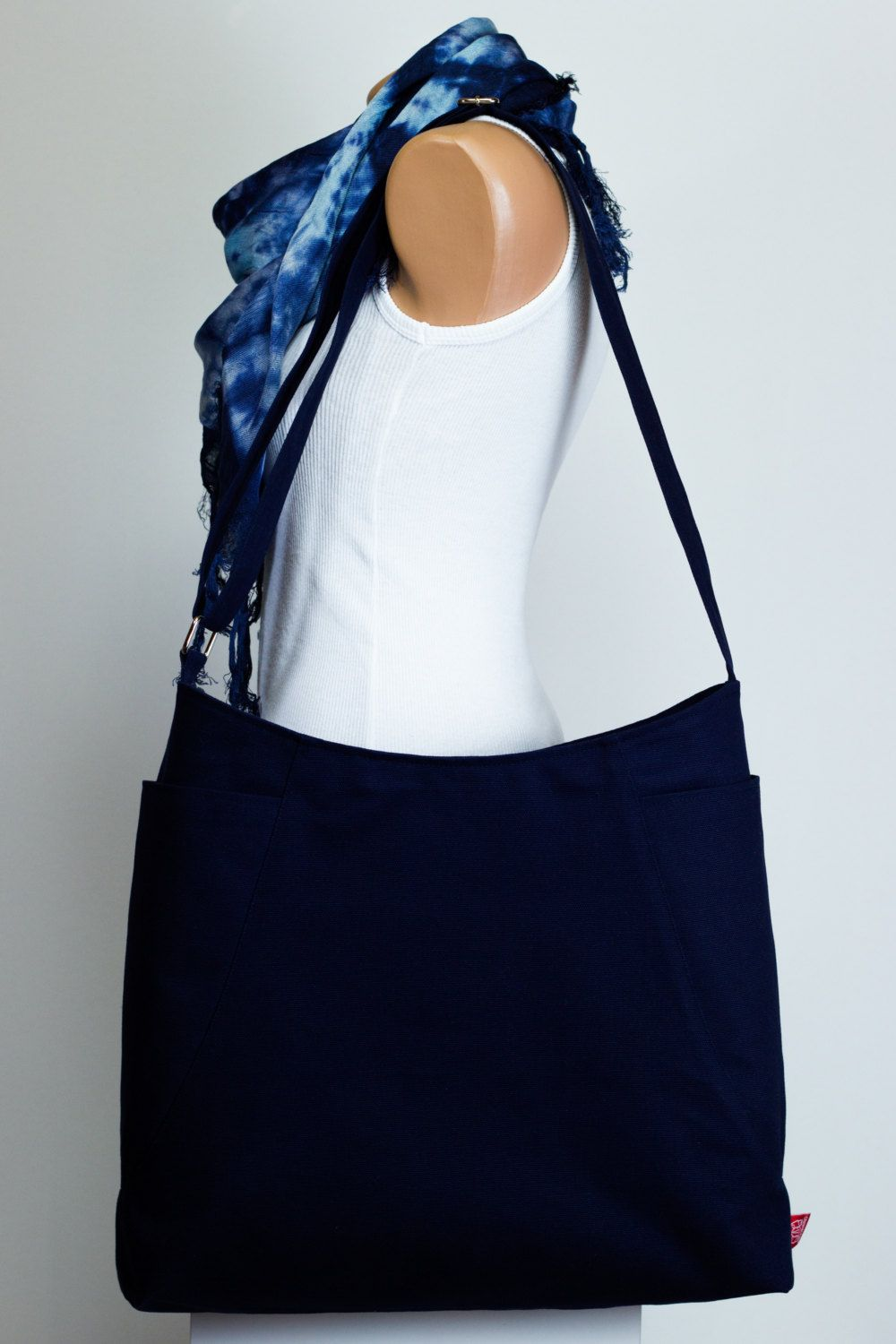 $39 Dark Navy Blue Hobo Bag Durable Large Pockets Extra Extra ...