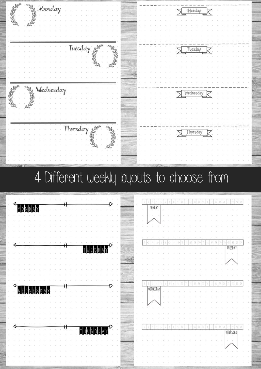 graphic relating to Bullet Journal Printable Pages referred to as Bullet Magazine - Top Selection - Hand Drawn Style and design