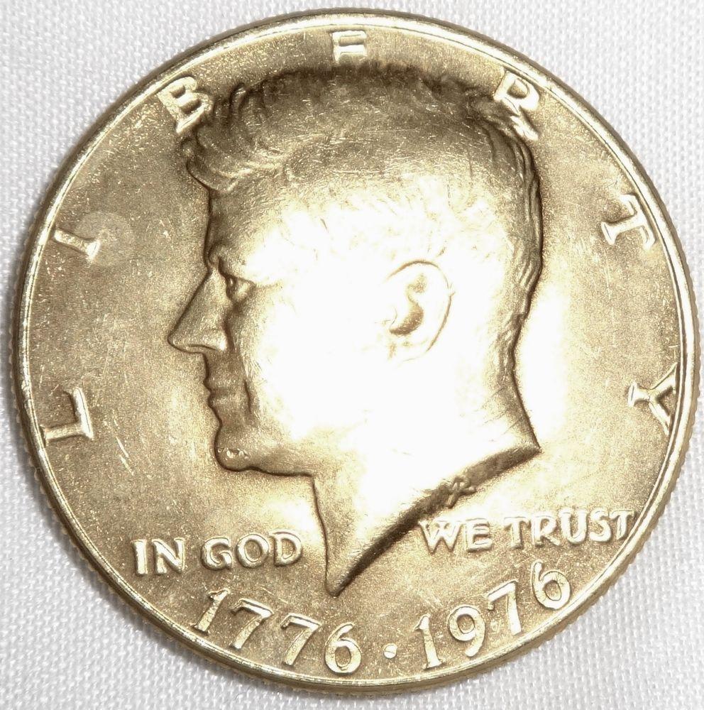 Bi Centennial Kennedy 1776 1976 Half Dollar Fifty Cents Coin Gold Plate Half Dollar Fifty Cent Coins