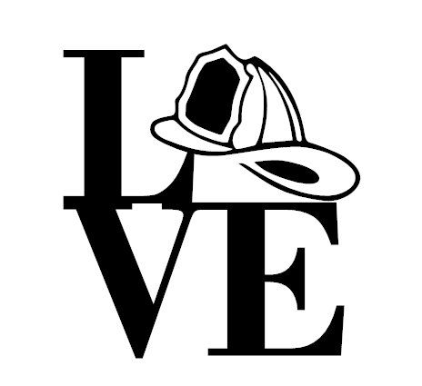 Firefighter Love Decal Fireman S Helmet Decal I Love Firefighting Decal I Love My Firefighter Decal Firefigh Firefighter Firefighter Clipart Firefighter Decals