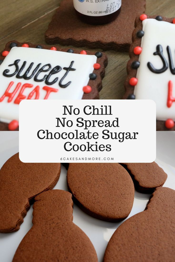 No Chill No Spread Chocolate Sugar Cookies #sugarcookierecipe