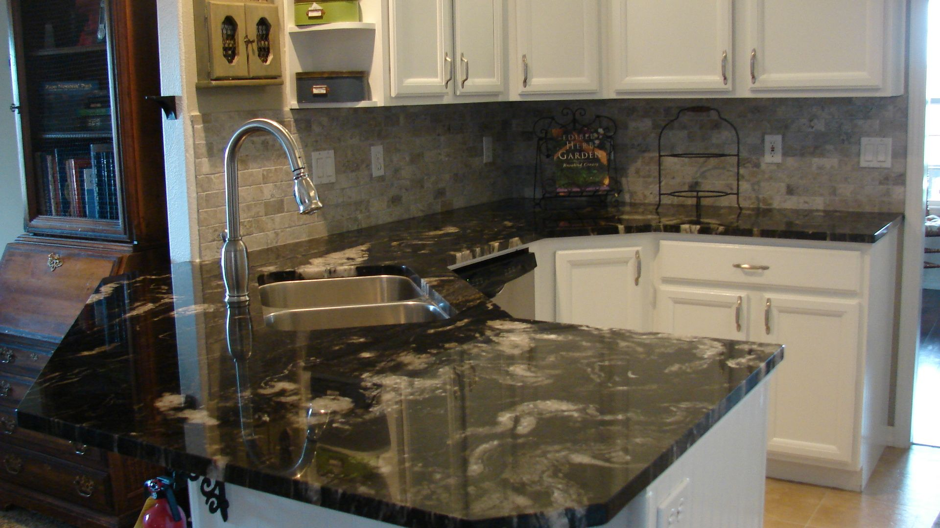 Black Titanium Granite Countertops This Kitchen Remodel Has 3cm Titanium Granite Counters