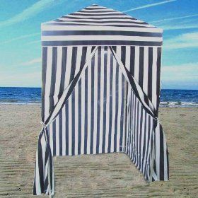 Striped Portable Changing Cabana Tent Patio Beach Pool & Striped Portable Changing Cabana Tent Patio Beach Pool | Party ...