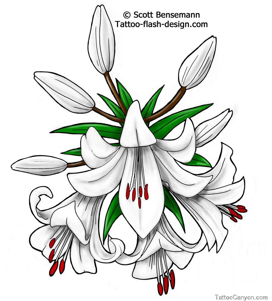 Tattoo ideas white lily flower idea flash design picture 10189 tattoo ideas white lily flower idea flash design picture 10189 izmirmasajfo