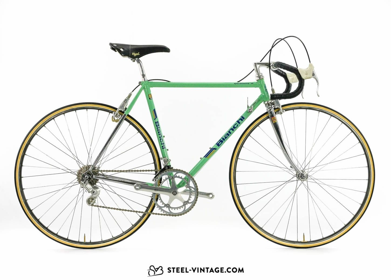 Iconic Bianchi model. Campagnolo Delta brakes. Campagnolo