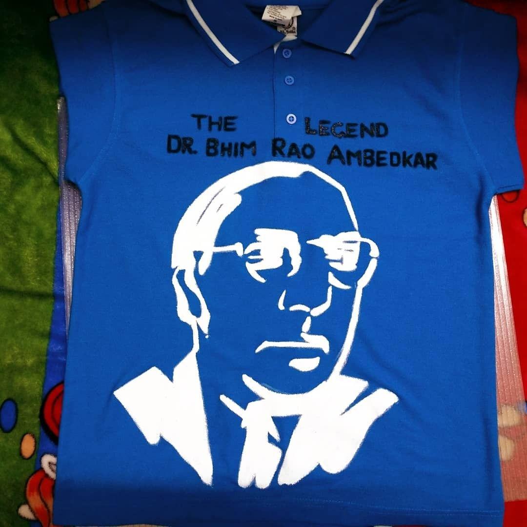 29fb452456 The Legend Dr. B R Ambedkar hand painted on tshirt   Customised Hand ...