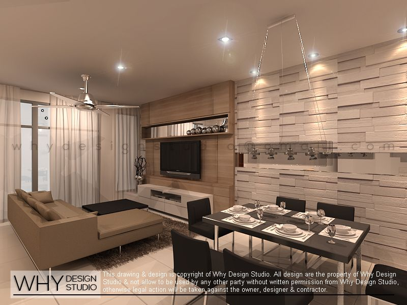 Terrace House Design For Living Area Dining In Kampar Perak Malaysia