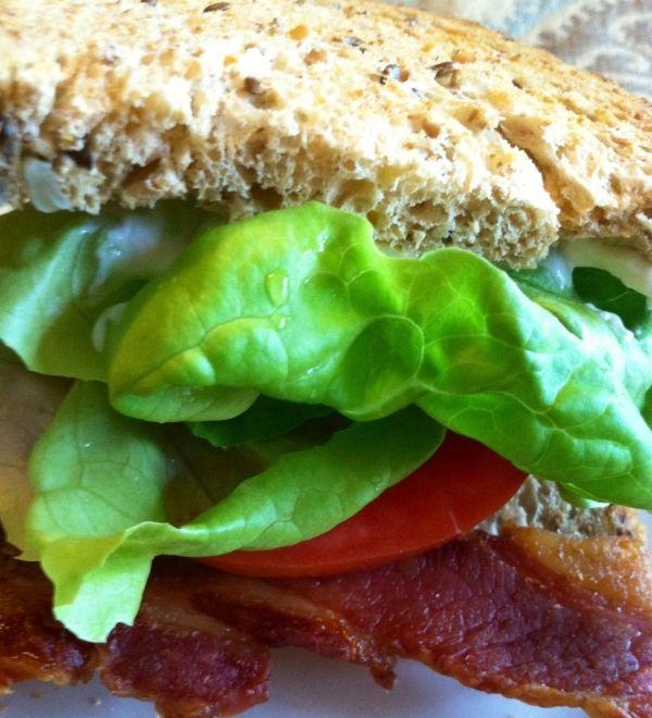 Everything is better with bacon & tomatoes are in season!