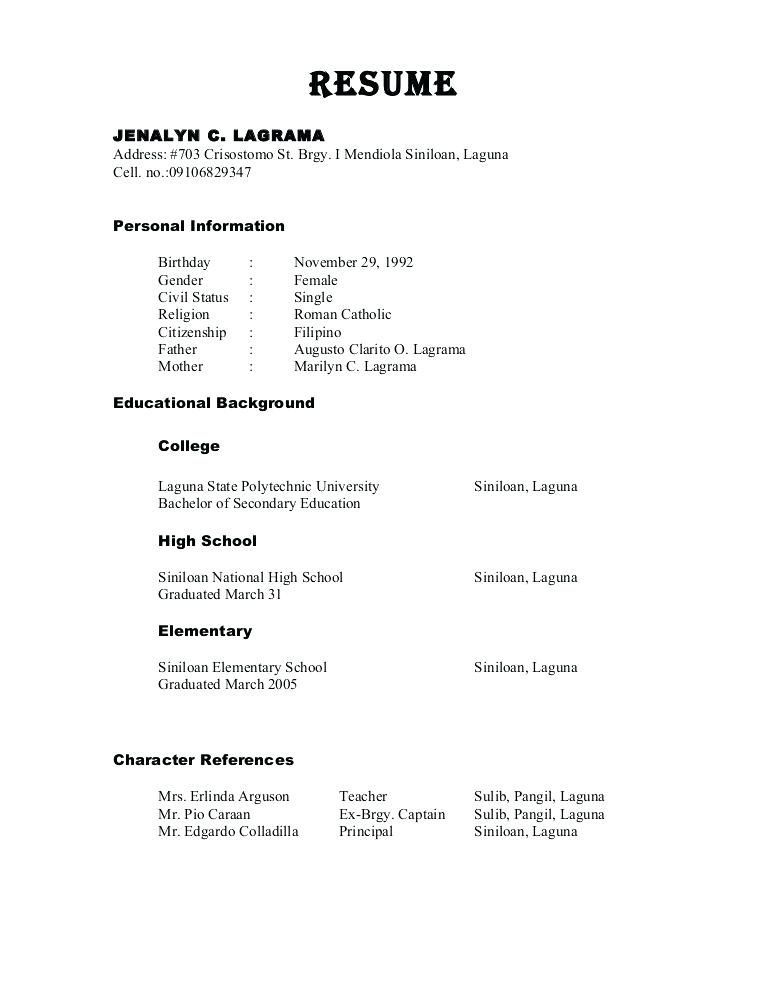 References Resume References Reference Page For Resume Resume
