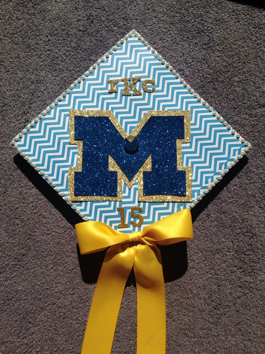 University of Michigan grad cap | College | Pinterest | Grad cap ...