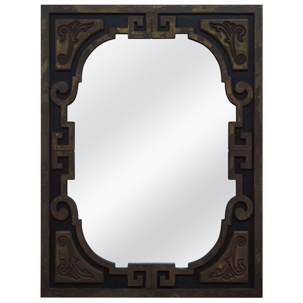 The Unique Mirror Shape And Design Can Complement Neutral Decor Or Add To  An Already Bold