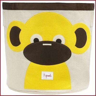 3 Sprouts opbergmand Aap - Baboffel - De kinder- en speelgoedwinkel voor bijzonder speelgoed