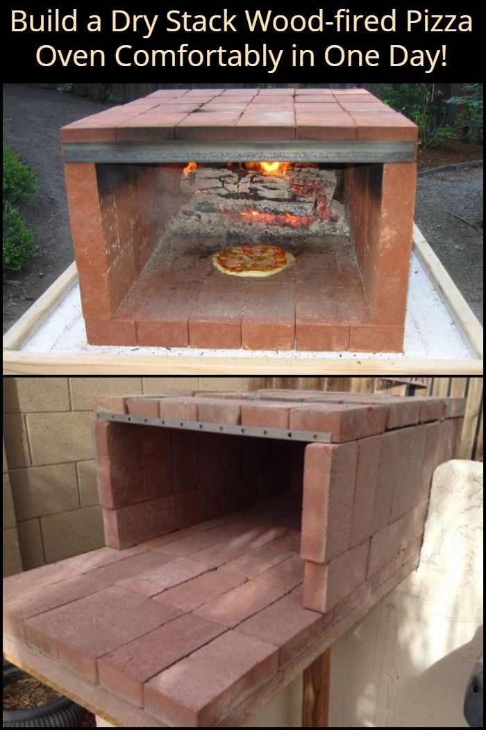 Build a dry stack wood-fired pizza oven comfortably in one day! So how about a real wood-fired pizza oven you can build in a few hours for as little a couple of hundred dollars?