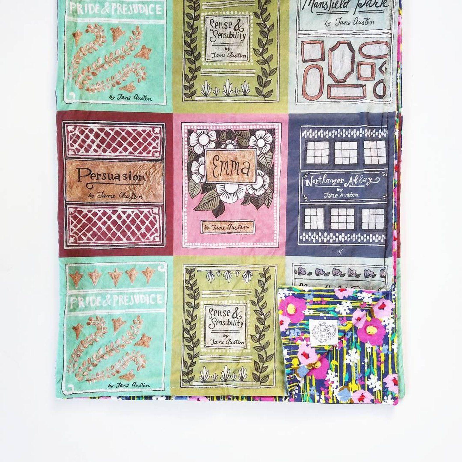 Jane Austen Book Blanket Literary Gift Etsy Literary Gifts