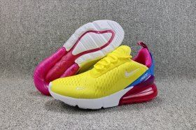 2160f23437ce5 Zero Defect Nike Air Max 270 Flyknit Bright Lemon Yellow White Racer Blue  AH6789 700 Women's Running Shoes Sneakers