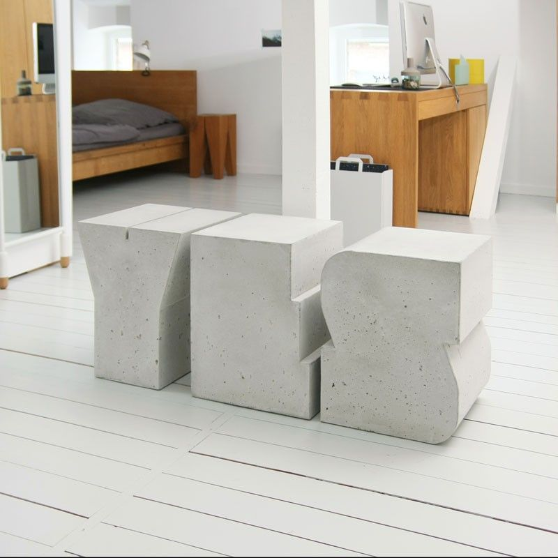Hocker BUCHSTABENHOCKER BETON | Beton | Pinterest | Hocker, Diy ...