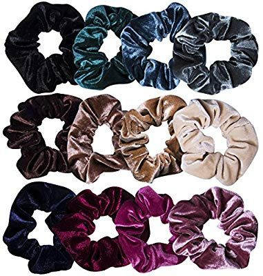 Mommy and Daddy Amazon.com  12 Pcs Hair Scrunchies Velvet Elastic Hair Bands  Scrunchy Hair Ties Ropes Scrunchie for Women or Girls Hair Accessories - 12  ... 94c221345b9