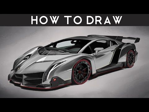 how to draw a lamborghini veneno step by step realistic