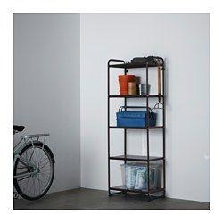 IKEA - MULIG, Regal, schwarz, , Auch für Badezimmer und andere ...