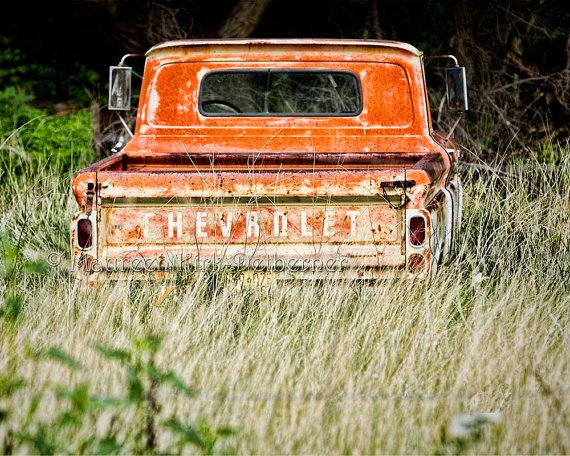 Old Chevy Truck Tailgate With Lettering Photograph 1950 Photo Of Antique Vintage Chevrolet Orange Tall Gr Field Rustic County Decor On Etsy 30 00