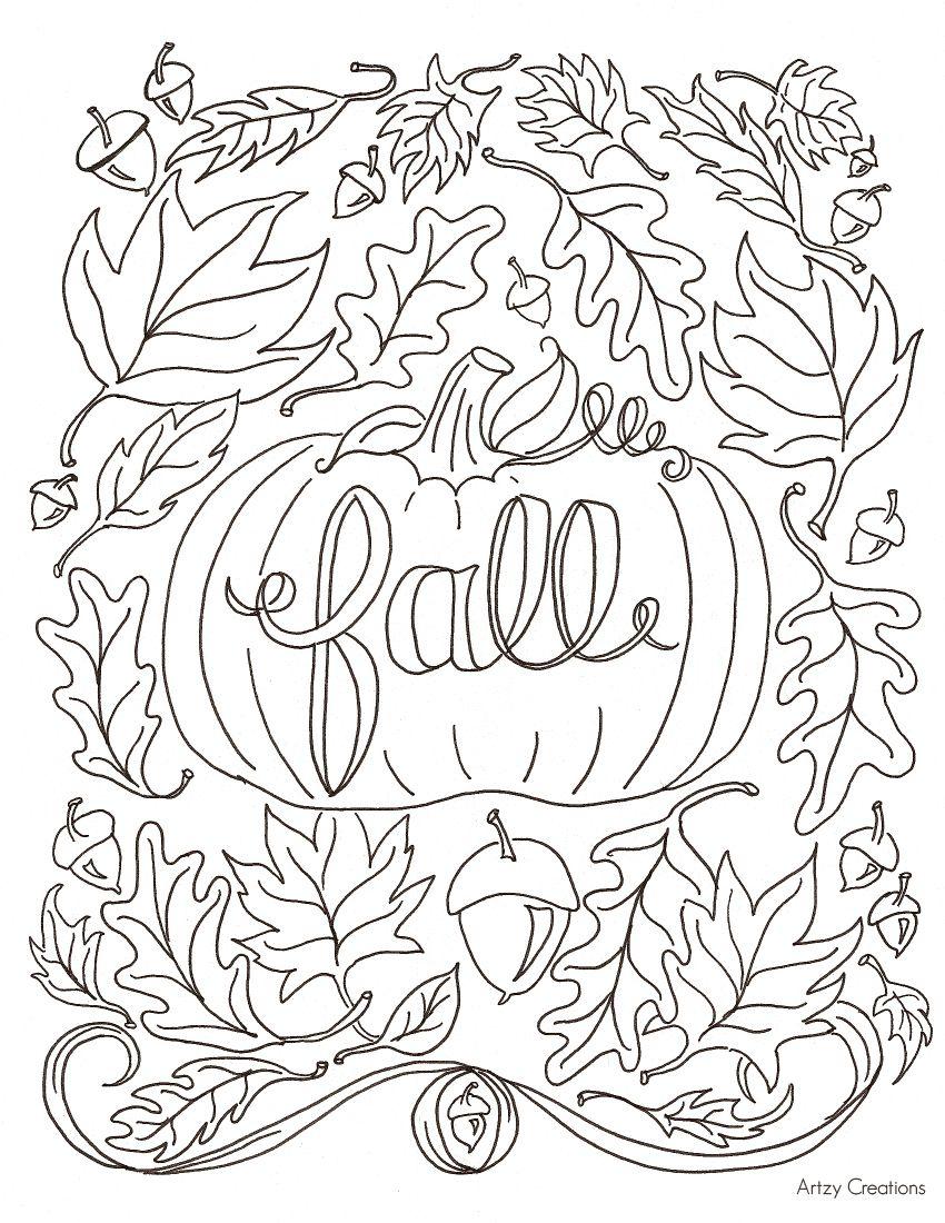 Free Fall Coloring Page Fall Coloring Sheets Fall Coloring
