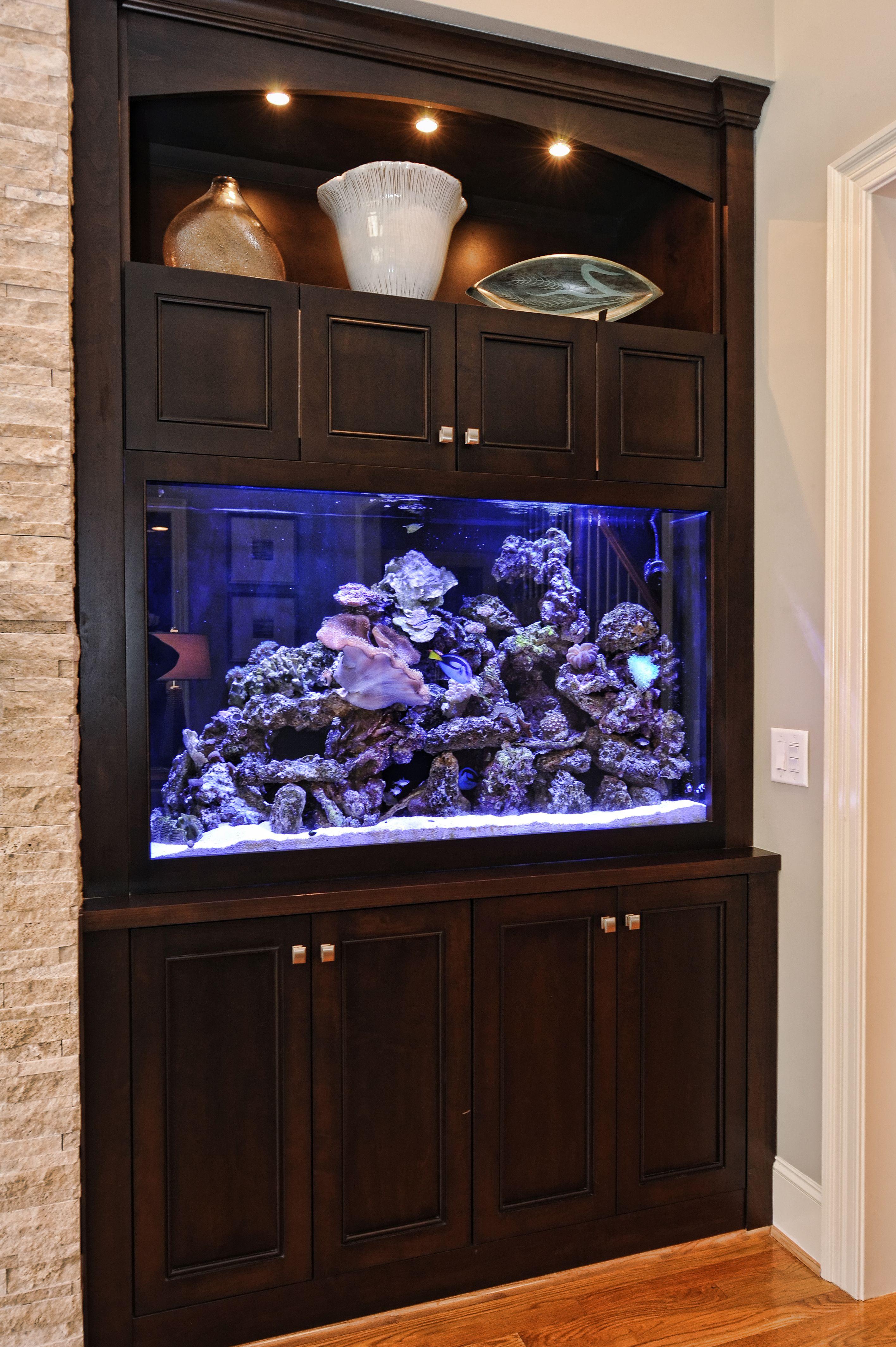 custom fish tank | Family living rooms, Custom fish tanks ...