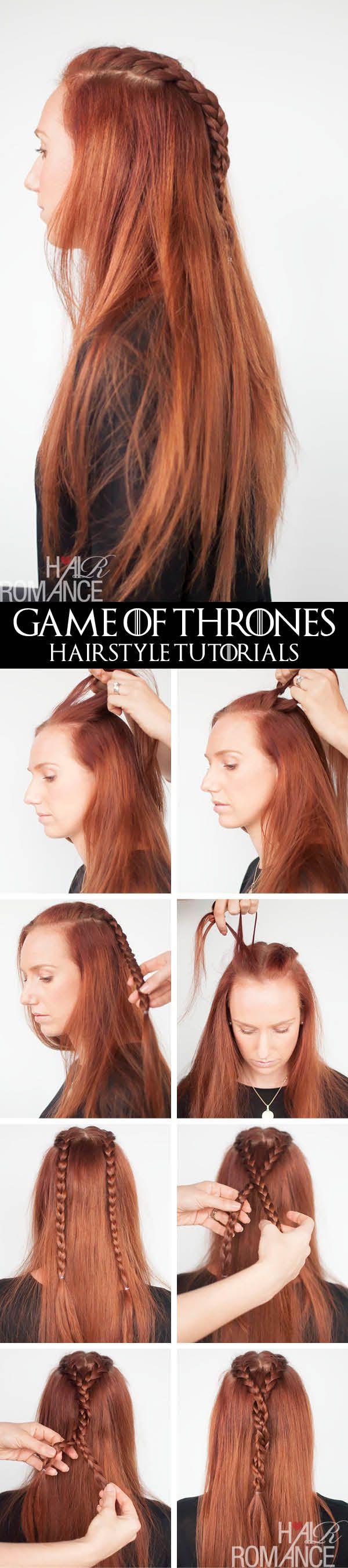 Game Of Thrones Hairstyles Sansa Stark Braid Tutorial Hair Romance Hair Styles Sansa Stark Hair Hair Romance