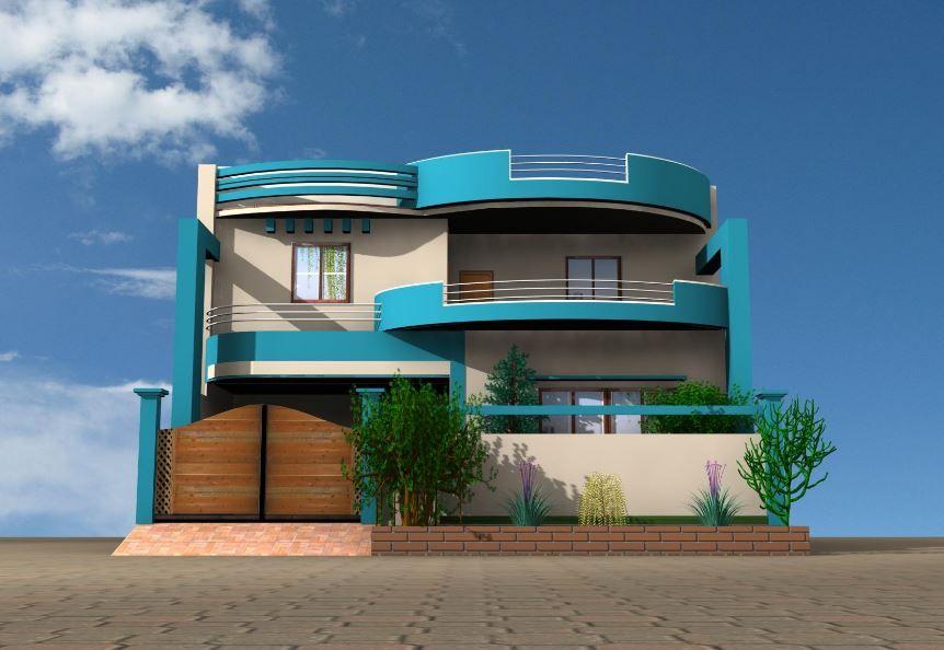 Fachadas de casas con balcones redondos omar pinterest for Fachada de casas modernas con balcon