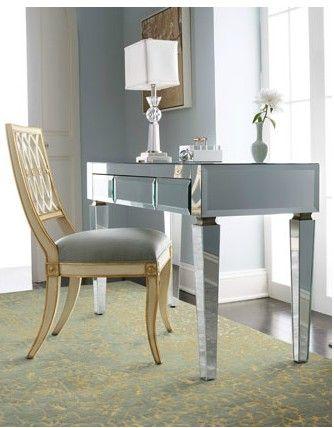 posh office furniture. mirrored desk for a posh home office ;-) furniture